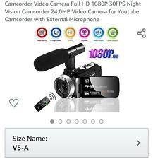 Videocámara Video Cámara De Visión Nocturna 30FPS Full HD 1080P Videocámara 24.0MP..