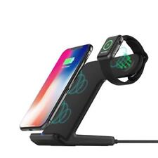 Qi Wireless Fast Charger Charging Dock for Samsung Galaxy / Apple Watch iPhone