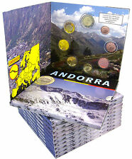 10 x Andorra 3,85 euro 2014 BFR. MINI Set di 5 cent a 2 EURO IN FOLDER