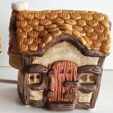 Nobel Sall Ceramic Cottage Christmas Village Small House Vintage Taiwan R.O.C.