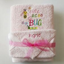 Personalised Embroidered Towel Gift Set for Baby Bath Towel and Face Washer