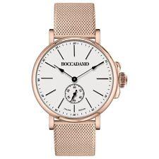 Orologio con quadrante bianco e maglia Milano rosata BOCCADAMO TIME PN009