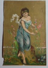 1800'S VICTORIAN TRADE CARD PLANO MANUF DIST BY GOODWIN & DILGARD WATERLOO IN