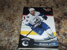 2017-18 BRANDON SUTTER Vancouver Canucks Upper Deck Subway Card