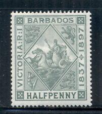 BARBADOS 82 SG117 MH 1897 1/2p Badge QVIC Diamond Jubilee Cat$11