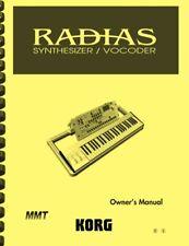 Korg Radias Synthesizer Vocoder USER'S MANUAL
