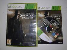 Jeu Xbox 360 complet Le testament de sherlock holmes
