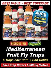 Fruit Fly Trap WA Mediterranean Orchard Growers Pack 4000 Square Metre Coverage