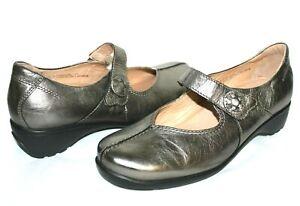❤️ SANITA Trude Pewter Premium Leather Comfort Mary-Janes 10.5 41 GREAT! L@@K!13