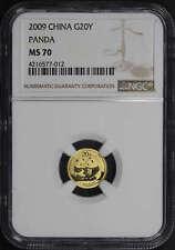 2009 China Gold Panda 20 Yuan 1/20 oz NGC MS-70 -146442