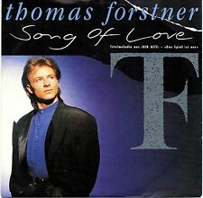 "THOMAS FORSTNER -Song Of Love- German 7"" Single Eurovision 1989"