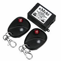 eMylo DC6V 1CH 433Mhz RF Relay Wireless Remote Control Light Switch 2Transmitter