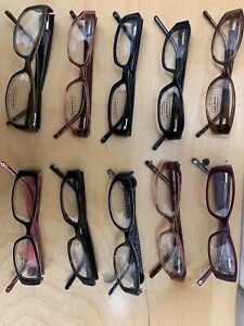 NEW 10 COACH LOT Tortoise Navy Burgundy Black Eyeglasses lot FAST SHIP