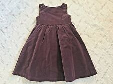 NWT GYMBOREE Festive Holiday Plum Rose Velveteen Cotton Dress Girls 3T