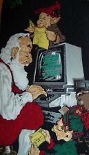 Saturday Evening Post Tie Necktie Santa Elves NEW Naughty or Nice Computer
