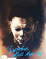BRAD LOREE SIGNED 8X10 METALLIC PHOTO MICHAEL MYERS HALLOWEEN JSA COA 938