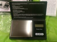Digital Table Top Coins Scale 4X4 Stainless Steel 2000x.1g w// 2 Bowls Battery