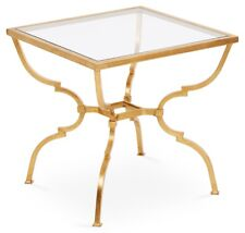 NEW GEOMETRICAL TRANSITIONAL GOLD IRON QUATREFOIL END SIDE ACCENT table