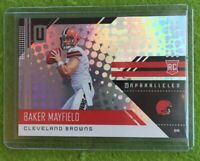 BAKER MAYFIELD ROOKIE CARD UNPARALLELED PRIZM REFRACTOR RC Holo 2018 Panini #208