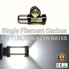 Front Signal Light 1156 BA15S 7506 3497 P21W 108 SMD 6K White LED Bulb M1 MAR