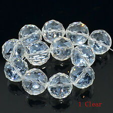 Faceted Multi-Color AB Quartz Crystal Round Beads 10PCS 16mm & 20mm
