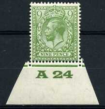 9d Olive, Block Cypher Control A24 Imperf margin, UNMOUNTED MINT / MNH. SG427.