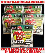 New Orleans Saints 2020 Panini Mosaic Football 5 Mega Box Break #1
