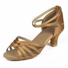 Women Girl lady's Ballroom Tango Latin Dance Dancing Shoes heeled Salsa 6 Color