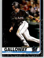 2019 Topps Series 2 ISAAC GALLOWAY Black Parallel /67 Marlins Rookie #683