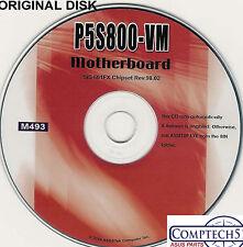 ASUS GENUINE VINTAGE ORIGINAL DISK FOR P5S800-VM Motherboard Drivers Disk M493