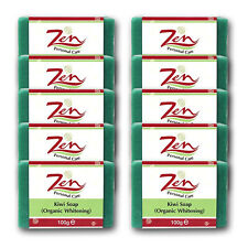 KIWI FRUIT LIGHTENING SOAP ORGANIC Pack10  Whitens, exfoliates