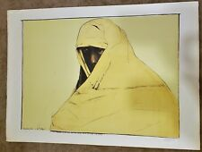LEONARD BASKIN Original PENCIL SIGNED Color Lithograph CHEYENNE WOMAN 44/100