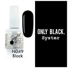 SYSTER 15ml Nail Art Soak Off Color UV Lamp Gel Polish N049 - Black