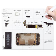 Magnetic Project Work Surface Mat for iPhone Andriod ios Smart Phone Repair