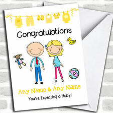 Blonde Mum To Be Congratulations Expecting A Baby Pregnancy Customised Card