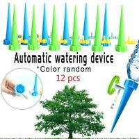 12pc Automatic Irrigation Device Drip Flower Plant Sprinkler Watering Spike Tool