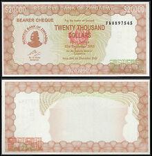 Zimbabue 20000 dólares (P23) 2003/2005 UNC