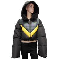 $500 Fenty Puma By Rihanna Womens Quilted Bomber Jacket Coat Puma Black Small