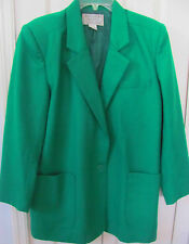 BLOOMINGDALE BEEKMAN Large Green Wool Classic Jacket-Fully lined-Pockets