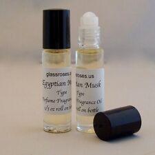 Egyptian Musk Perfume Body Oil Fragrance for Women (Two) 1/3 Oz Roll On Bottle