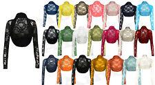 Womens Ladies New Floral Lace Bolero Cropped Shrug Stretch Top Girls Cardigan