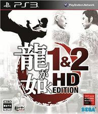 Ryu ga Gotoku 1&2 HD Edition PS3 Playstation 3 Yakuza Game Used Japan