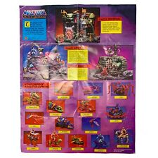 Vintage MOTU He-Man Action Figure Checklist Poster Masters of the Universe