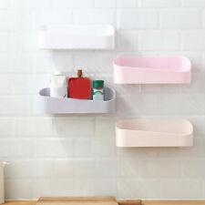 Kitchen Bath Plastic Wall Storage Shelf Hanging Rack Basket Holder Organizer