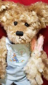 "Karla Singer ""Ryan & Roger Rabbit"" OOAK  21"" artist teddy bear mohair bunny"