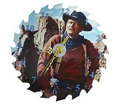 "John Wayne 10"" Saw Blade Clock"