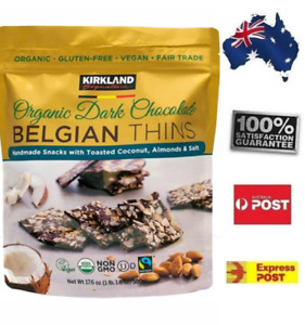 Kirkland Signature Belgian Organic Chocolate Belgian Thins Almond Coconut POSTED