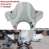 pare-brise pare-brise moto universel Pour 7'' phare Motobike déflecteur de vent