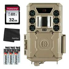 Bushnell 24MP Core Low Glow Trail Cam + 32GB SD Card + 8 AA Batteries & Cloth