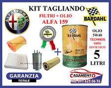 KIT TAGLIANDO FILTRI + OLIO BARDAHL 5W40 ALFA 159 2.4 JTD 200CV 210CV '05 IN POI